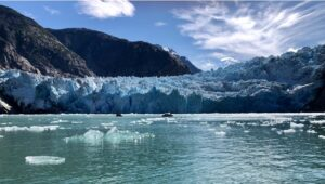 Picture of South Sawyer Glacier, Tracy Arm Fjord, Alaska taken by the author, July 21, 2021