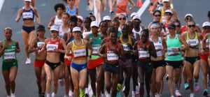 Start of the women's marathon at the Tokyo Olympics in Sapporo, Japan, August 7, 2021 (Reuters)